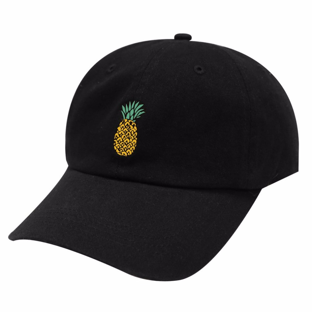 Hot Spring Women's   Cap   Snapback Pineapple Pattern Printed Hat Men's Summer   Baseball     Caps   Hip Hop Hats For Girls Casquette Homme