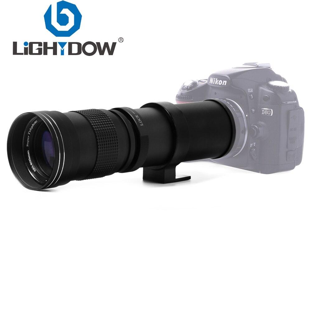Lightdow 420-800mm f/8.3-16 lente de zoom manual super telefoto para canon nikon sony pentax dslr câmera