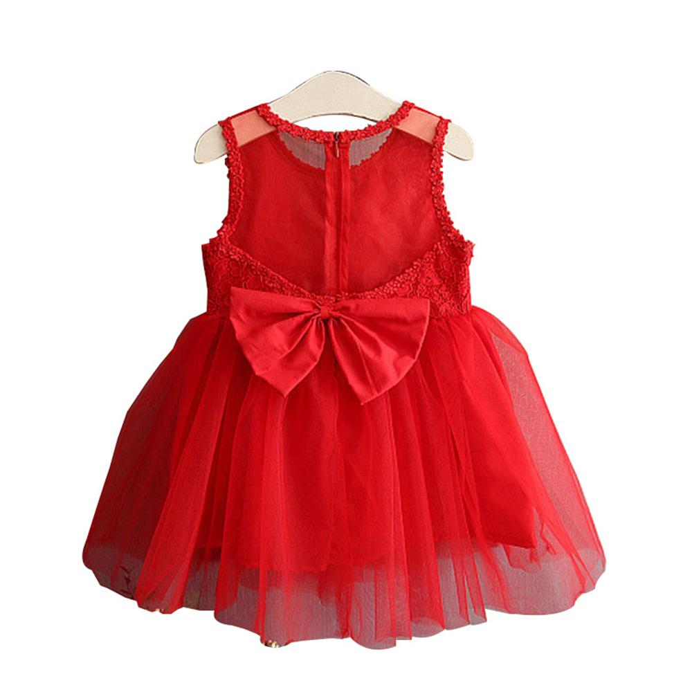Baby Children Princess Dress 2018 New Flower Lace Mesh Girls Party Wedding Clothes Summe ...