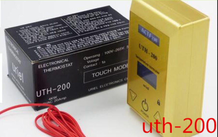 Khan, steam room uth-200 thermostat temperature control switch electric film heating plate temperature controller floor heating thermostat temperature control switch electric film thermostat electric geothermal uth 170r