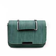 Cloth Small Bag Simple Iron Handle Square Retro 2019 New Fashion Magnetic Buckle Cross Section Messenger