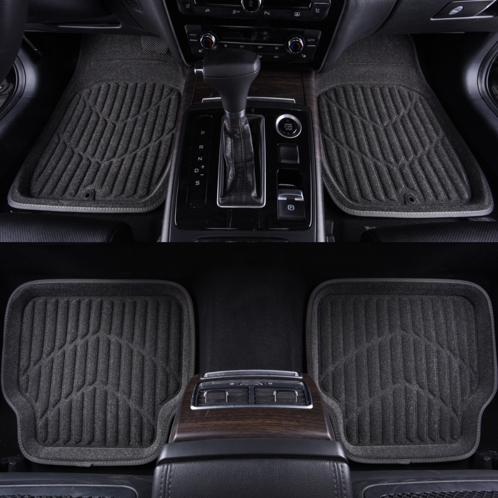 Universal Car Rubber Floor Mats Anti Slip Mat Carpets Feet Pad Custom Fit For Lada Honda Camrry(China)
