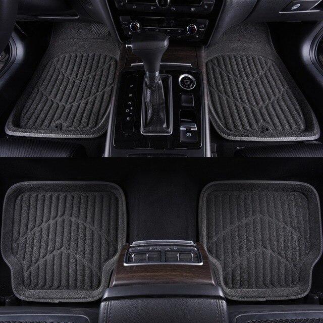 Universal Car Rubber Floor Mats Anti Slip Mat Carpets Feet Pad Custom Fit For Lada Honda Camrry