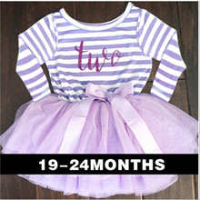 1st 2nd Birthday Outfits Infant Party Dresses For Girls