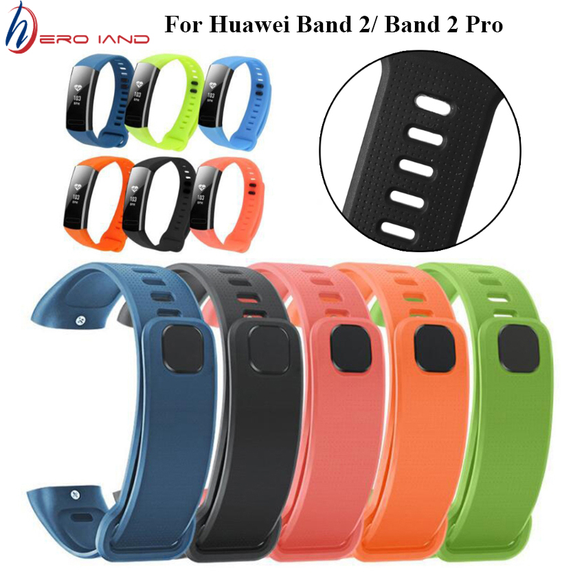 Hero Iand Silicon Wrist Strap For Huawei Band 2 Pro B19 B29 Bracelet Straps TPU Wristband For Honor Band 2 Band2 Pro Watch Bands