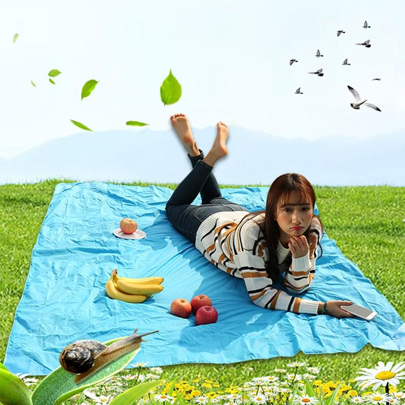 Portable Ultra thin Folding camping mat Pocket Blanket Camping Waterproof Blanket Outdoor picnic mat sand free Sand Beach mat portable sand free mats for beach picnic camping