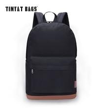 Tinyat hombres de la lona de la universidad laptop mochilas mochilas school student mochila bolsos masculinos informal mujeres mochila escolar t101 negro