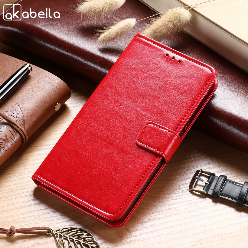 AKABEILA Cases For Nokia 6 TA-1000 5.5 inch Nokia6 Leather Wallet Phone Case Covers Business Holster Flip Card Holders Housings