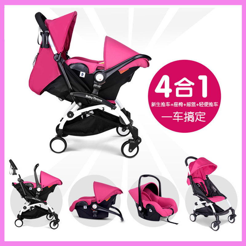 Baby Basket on-board Cradle Car Safety Seat Baby Stroller 4 In 1 Detachable Baby Travel Portable Folding Car Pram Pushchair ECE stroller car seat newborn pram 3 wheels baby stroller 3 in 1 prams pushchair pram stroller travel system free shipping