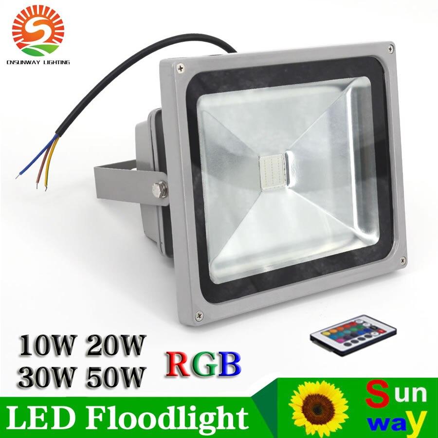 10W 20W 30W 50W RGB Warm White LED Flood Light Outdoor Garden Security Spot Lamp