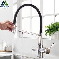 Chrome Swive Spout Purifier Water Kitchen Faucet Pure Water Kitchen Sink Mixer Filter Tap Purify Kitchen Mixer Tap Deck Mounted