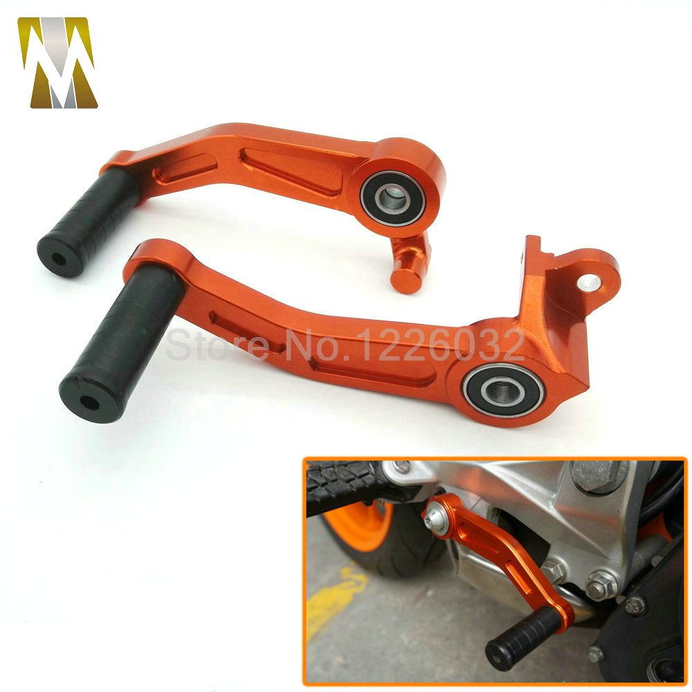 New arrival Motorbike Orange CNC Aluminium Brake Clutch Gear Pedal Lever For KTM DUKE 125 200 390 2013 2014 2015 for ktm duke rc 125 200 390 motorcycle cnc foot brake pedal lever gear shift levers orange