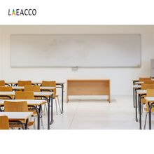Laeacco Classroom Desk Chairs Children Student Scene Photography Backgrounds Customized Photographic Backdrops For Photo Studio