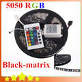 Waterproof preto PCB 5050 tira conduzida RGB preto - matrix fita com 60 Leds / M 5050 Blackbase 24Key controlador frete grátis