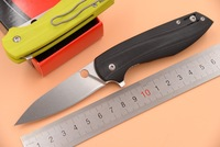 JUFULE C195 Ball Bearing Carbon Fiber G10 Handle D2 Blade Folding Camping Hunt Outdoor Survival Pocket