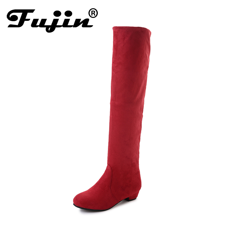 Fujin women knee high boots 2018 woman thigh high winter boots women shoes ladies autumn boots shoes plus size 35-40