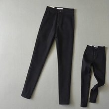High Waist Autumn Winters AA Jeans Women Stretch Velvet Warm Pencil Pants Femme Quality Sexy Push Up Black Skinny Jeans Mujer