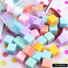 10Pcs Square Candy Polymer Slime Charms Toy For Children Modeling Clay DIY Accessories Kids Plasticine цена в Москве и Питере