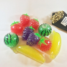 Cute Fruits Antistress Stress Relief Toys Gag Practical Jokes Face Reliever Squeeze Gadget Slime 2018 New Fun Entertainment