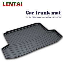 EALEN 1PC Car rear trunk Cargo mat For Chevrolet Sail Sedan 2010 2011 2012 2013 2014 car Boot Liner Tray Carpet Anti-slip mat ealen 1pc rear trunk cargo mat for toyota highlander 2009 2010 2011 2012 2013 2014 boot liner tray anti slip mat accessories