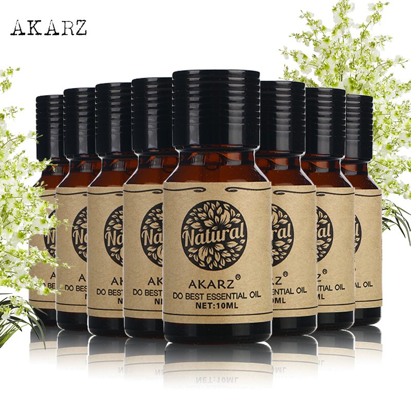 AKARZ Famous brand value meal Cinnamon Sandalwood Peppermint Musk Violet Lemon Oregano Clary Sage essential Oil skin care 10ml*8 sexy life musk