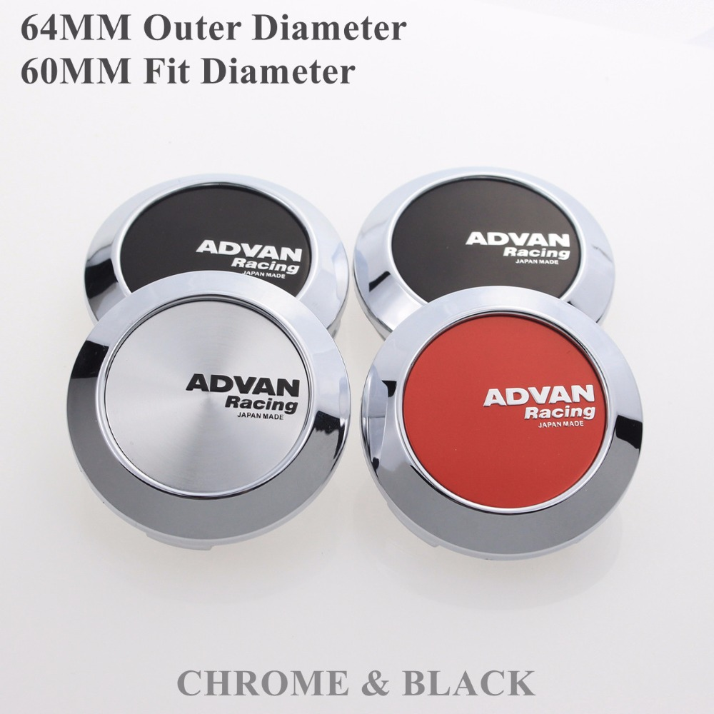 4PCS/LOT 64MM Center Cap For Advan Emblem Sticker Wheels Hubcaps With Steel Ring KOM POWER KP646045CA