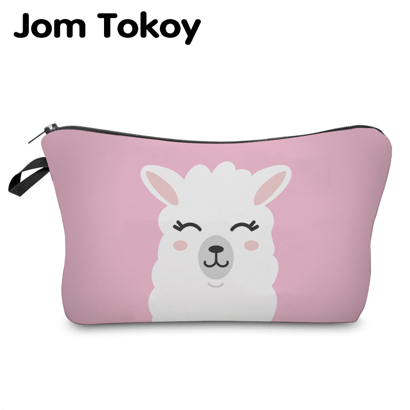 Jom Tokoy Cosmetic Organizer Bag Make Up Printing Llama Cosmetic Bag Fashion Women Brand Makeup Bag Hzb933