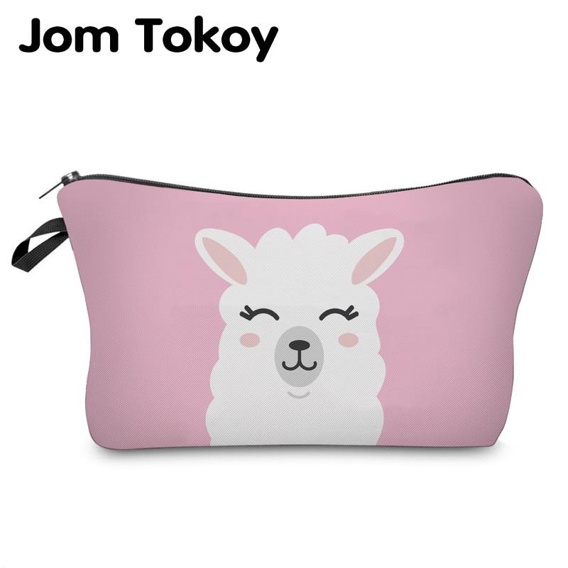 Jom Tokoy Cosmetic Organizer Bag Make Up Printing Llama Cosmetic Bag Fashion Women Brand Makeup Bag Hzb933