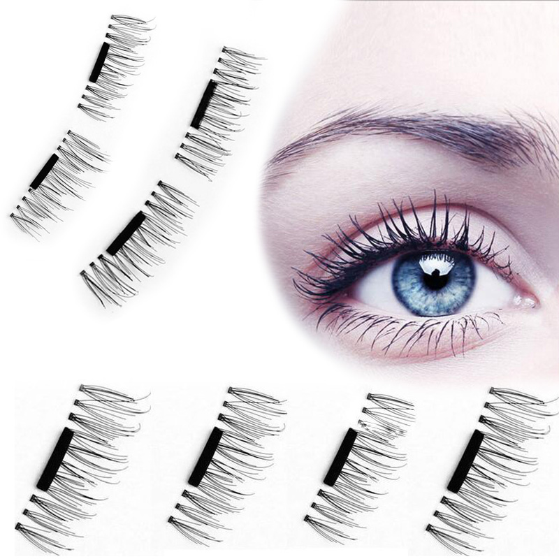 bde1e8e7f72 4 Pcs/Pairs Magnetic Eyelashes Extension Eye Beauty Makeup Accessories Soft  Hair Magnetic Eyelashes Dropship False Eyelashes
