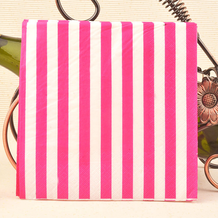 20Pcs/Lot Colorful Stripe Wave Paper Napkin For Wedding Supplies Party Decoration Kids Birthday Table Decoration CP155