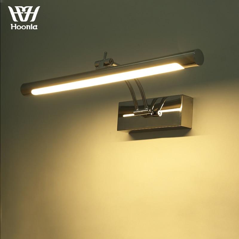 شحن مجاني 7 واط أدى مرآة ضوء 40 سنتيمتر الأزياء نمط الحمام الجدار ضوء 220 فولت أدى الجدار مصباح الفولاذ الصلب المواد