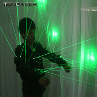 New arrived Green Laser Waistcoat LED Clothes, Laser Suits, 532nm Laser Man Costumes For Nightclub Performers
