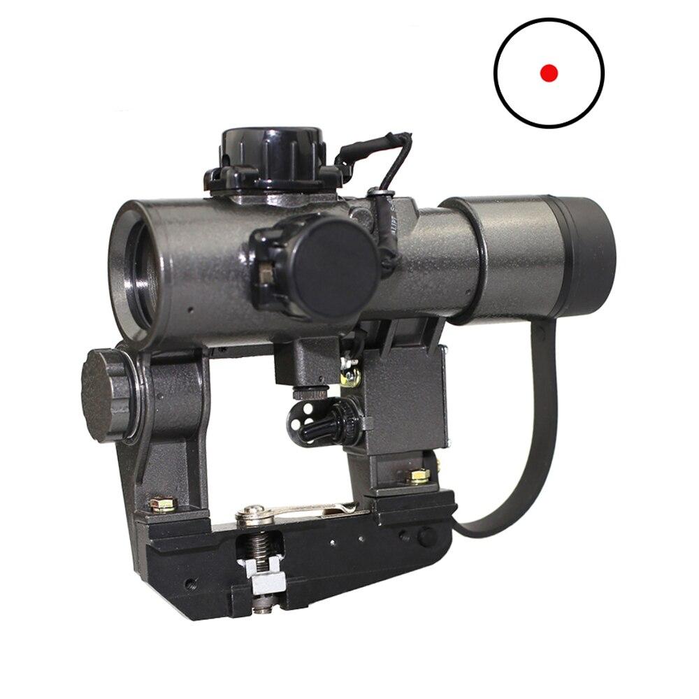 1X30 Recoil Beständig SVD Red Dot Sight Jagd Zielfernrohre Gewehr Taktische CQB Optical Scope fit Tigr SKS Stil seite Montieren