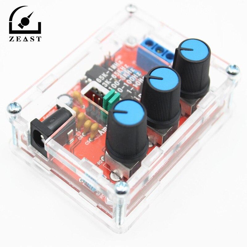 XR2206 función generador de señal DIY Kit sine/triángulo/cuadrado salida 1Hz-1 MHz ajustable generador amplitud de frecuencia