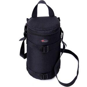 Image 4 - Hızlı kargo yeni Lowepro Lens çantası çantası su geçirmez fotoğraf çantası standart Zoom objektifi siyah