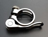 Titanium TC4 Quick Release Seatpost Clamp 31 9mm 34 9mm Light Weight 35g For Quick Release