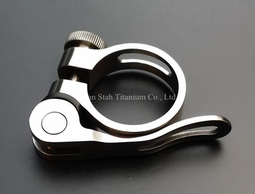 ФОТО Titanium TC4 Quick release Seatpost Clamp 31.8mm / 34.9mm Light Weight 35g for Quick-release Mountain / Road / Fixed Gear Bike