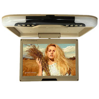 13 Inches Car Roof Mounted Monitor LCD Digital Screen Car Ceiling Monitor 16:9 Flip Down Monitor & 2 Ways Video Input
