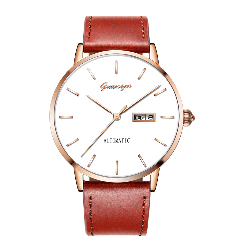 GUANQIN GJ16101 watches men luxury brand Japan MIYOTA Automatic mechanical Men's watch leather belt waterproof double calendar guanqin gj16056 watch women luxury brand japan miyota mechanical watch leather automatic ultra thin watch female watch couple