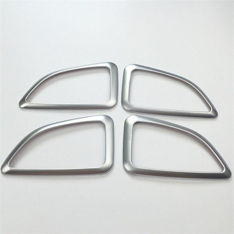 For HYUNDAI IX35 2010-2013 2014 ABS Chrome Car Interior Trim Door Handle Bowl Decoration Cover Trim Auto Styling Accessories
