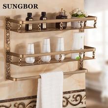 Bathroom shelf 40cm length antique aluminum bathroom corner shelf bathroom holder shower room basket bathroom accessories цена