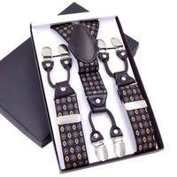 Top Sell Men S Suspenders Leather Braces Mens Trouser 6 Clips Adult Suspensorio Tirantes Hombre Bretelles