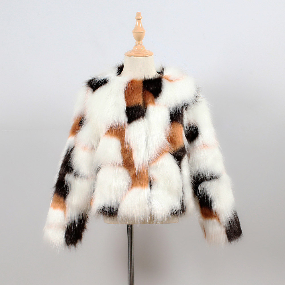 Kids Fall Winter Faux Fur Sleeveless Cardigan Thick Warm Short Coat Outwear Tops