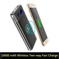 Heißer Verkauf Qi Wireless Charging 10000 mAh Energienbank + Drahtlose Ladegerät 2 in 1 Universalgebühr Für iPhone X 8 Samsung S8 Note8 Etc