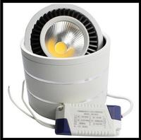 20 светодио дный шт. Dimmable COB потолочный светодио дный светодиодный светильник 5W7W 9W15W 110 градусов вращающийся В 220/360 в теплый/белый поверхностн