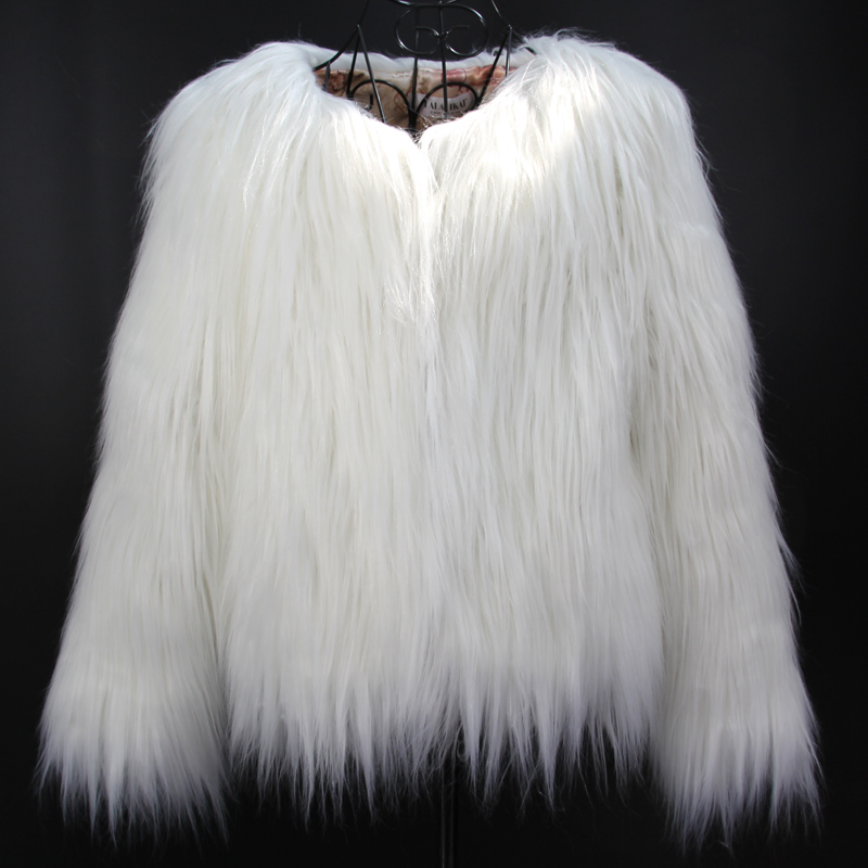 Aliexpress.com : Buy Women White Faux Fur Coat Jacket Winter Warm ...