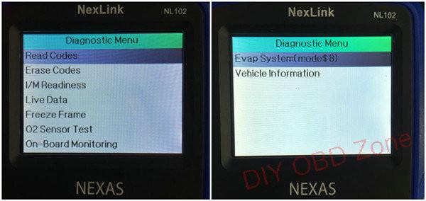 nl102 car diagnostic menu _1