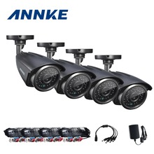 ANNKE Analog Camera 900TVL IR Cut Filter 24LED Hour Day/Night Vision Video Outdoor Waterproof IR Bullet Surveillance Cameras