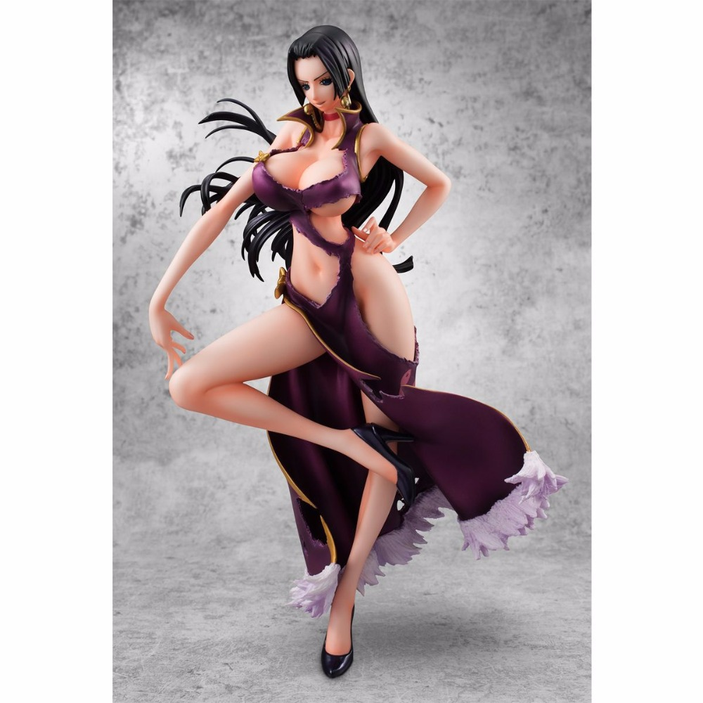 Anime Sexy Figure One Piece Portrait Of Pirates POP Boa Hancock Ver. 3D2Y PVC Action Figures Collection Model Toys Doll 23CM anime one piece dracula mihawk model garage kit pvc action figure classic collection toy doll