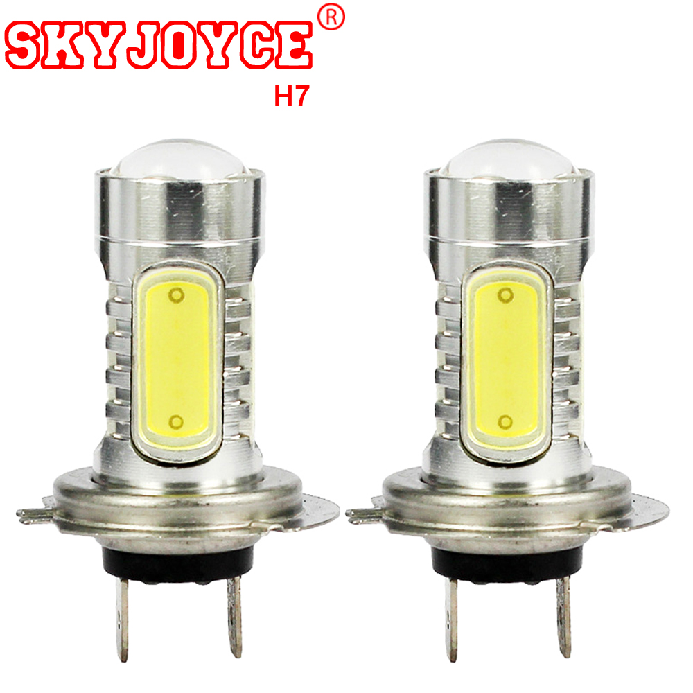 SKYJOYCE White/ Yellow Parking H7 Led Headlights Auto Fog Lamps Bulbs Car Driving Led Kits Accessories H11 H16 H4 H1 H3 H8 LED